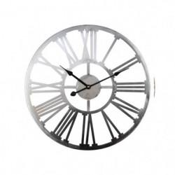 Horloge en métal 45 cm - Gris