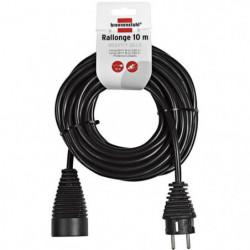 BRENNENSTUHL Rallonge électrique noire 10m H05VV-F 3G1.5