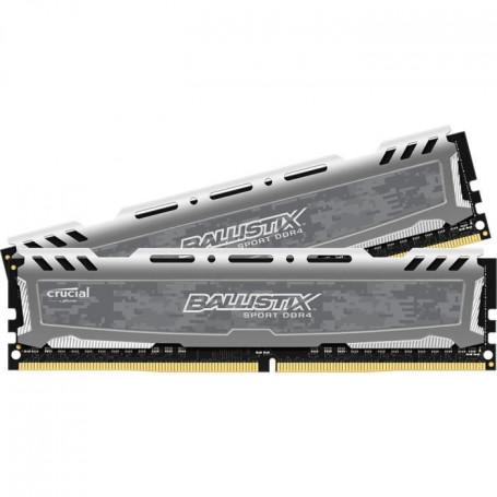 BALLISTIX SPORT LT Gris Mémoire PC KIT - DDR4 - 8G