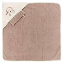 NATTOU - Fanny&OscarCape de bain + Gant 75x75cm