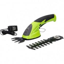 KINZO Taille-haie et cisaille électrique 2 en 1 - 3,6 V