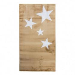 STARS Tapis enfant - 80 x 150 cm - Polypropylene - Beige