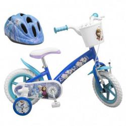 """LA REINE DES NEIGES Vélo 12"""" + Casque - Enfant fille"""