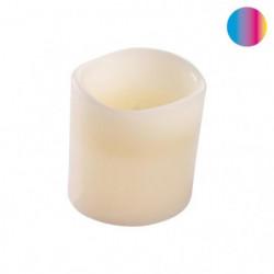 Bougie LED pilier en cire blanc - Ø 7,5 x H 10 cm