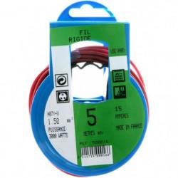 PROFIPLAST Couronne de câble 5 m HO7V-U 1,5 mm2 Rouge