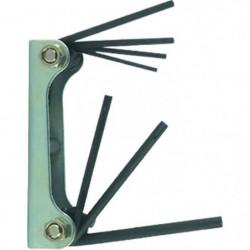 TEC HIT Jeu de 7 clés males sur monture de 1,5 a 6mm