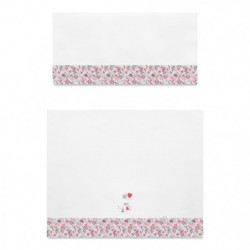ABSORBA Parure Berceau 3 pieces London fille - 100% coton