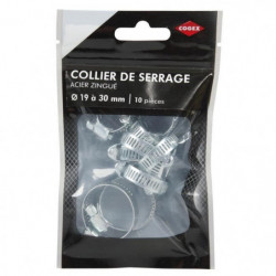 COGEX Colliers de serrage acier zingue - ø 19 a 30 mm