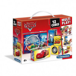 CLEMENTONI - Puzzle 12 Cubes Multiplay - Cars
