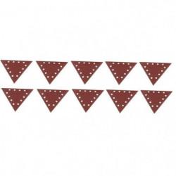 SCHEPPACH Lot de 10 triangles de ponçage grain 120