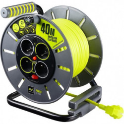 MASTERPLUG Enrouleur de bricolage 40 m câble H05VV-F 3G1,5