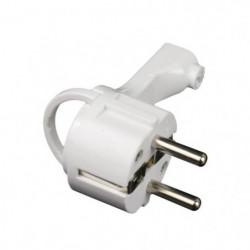 ZENITECH Fiche électrique mâle extra plate 2P+T 16A blanc