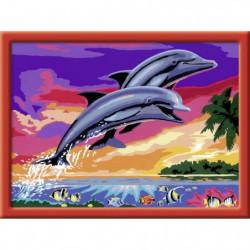 RAVENSBURGER Numéro d'art - grand - Le monde des dauphins