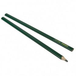 STANLEY 2 crayons de maçon 30cm corps vert