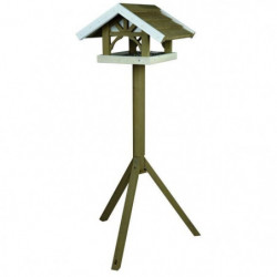 NATURA Mangeoire oiseaux avec pied 45 × 28 × 44 cm/1,25 m
