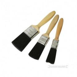 SILVERLINE Lot de 3 pinceaux qualité Premium - 25, 40 et 50