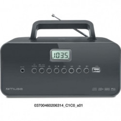 MUSE M-28 DG  Radio portable - CD - USB - Noir