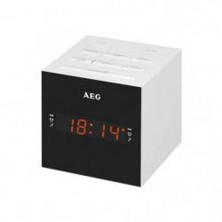 AEG MRC 4150WH Radio Réveil USB + Aux-In - Blanc