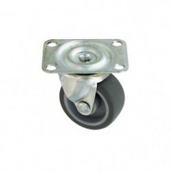 Roulette a platine pivotante - Ø 35 mm - Roue caoutchouc