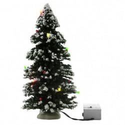 Sapin de Noël artificiel lumineux - Fonction a pile - 23 cm