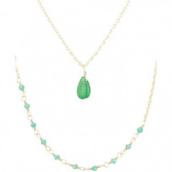 "Collier ""Paola"" Agate vert"