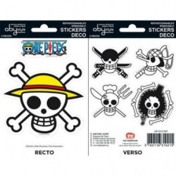Stickers One Piece - 16x11cm  / 2 planches - Pirates Flag