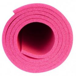 AVENTO Tapis de sol fitness / yoga mousse 7 mm - Rose