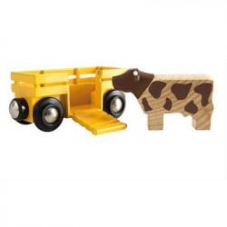 BRIO World  - 33406 - Wagon Transport De Betail