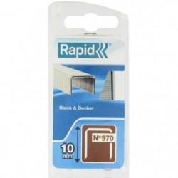 RAPID Agrafes galvanisées - Fil plat - N°970/10 mm