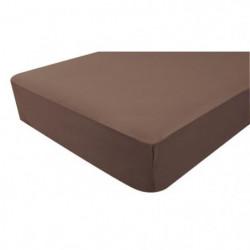 DOMIVA Drap housse JERSEY 40x80cm - Chocolat