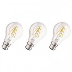 OSRAM Lot de 3 Ampoules LED B22 standard claire 7 W