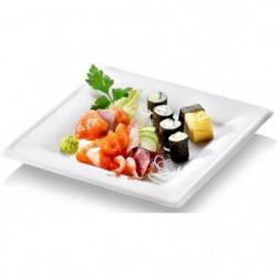 NATURESSE - N128-6 - 6 Assiettes carrées  Karo - Canne a sucre
