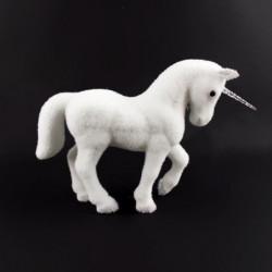 Décoration a poser Licorne - En polyfoam pailletée - H24 cm