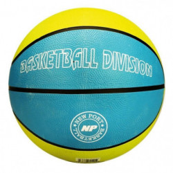 NEW PORT Ballon de basketball - Bleu et jaune - Taille 7