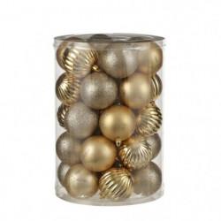 Boule incassable or 34 pieces - d7cm