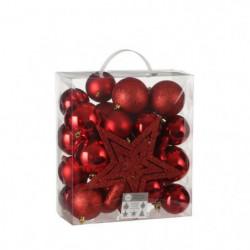 Arbre Decoration incassable rouge 40 pieces - d8cm