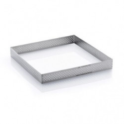 DE BUYER Cercle carré perforé inox - Inox - Diametre : 20 cm