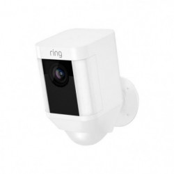 RING Caméra de surveillance sans fil Spotlight - Blanc