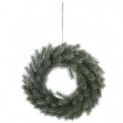 Couronne de Sapin artificiel Effet Givre - 40 cm - Vert