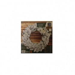 Couronne de Sapin Floque artificiel - 40 cm