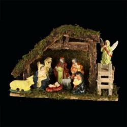 Creche de Noël en porcelaine - Avec 8 santons