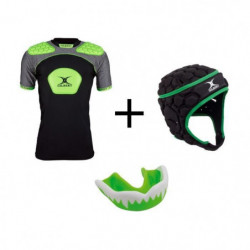 GILBERT Pack protection rugby enfant 10 - 12 ans - Casque rugby