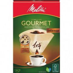MELITTA 80 filtres a café Gourmet Intense 1x4