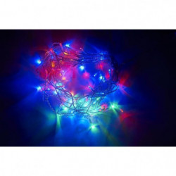 Guirlande de Noël 120 LED - 5 mm x 6 m - Multicolore