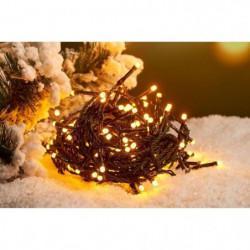 Guirlande de Noël Solaire - 50 LED - Blanc chaud - 5m