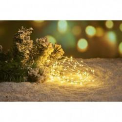 Guirlande de Noël Filaire - 80 Mini LED - Blanc chaud
