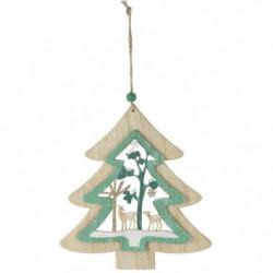 BLACHERE Sapin en bois a suspendre- L 18,5 x H 20 cm