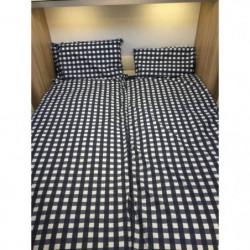 DUVALAY Couchage grand confort - Vichy Bleu