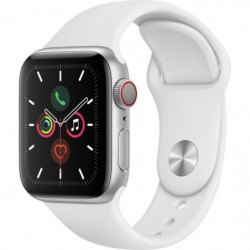 Apple Watch Series 5 Cellular 40 mm Boîtier en Aluminium Argent