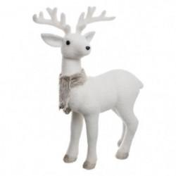Décoration a poser - Renne Blanc debout de 47 cm